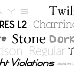 10 Interesting fonts for web designers