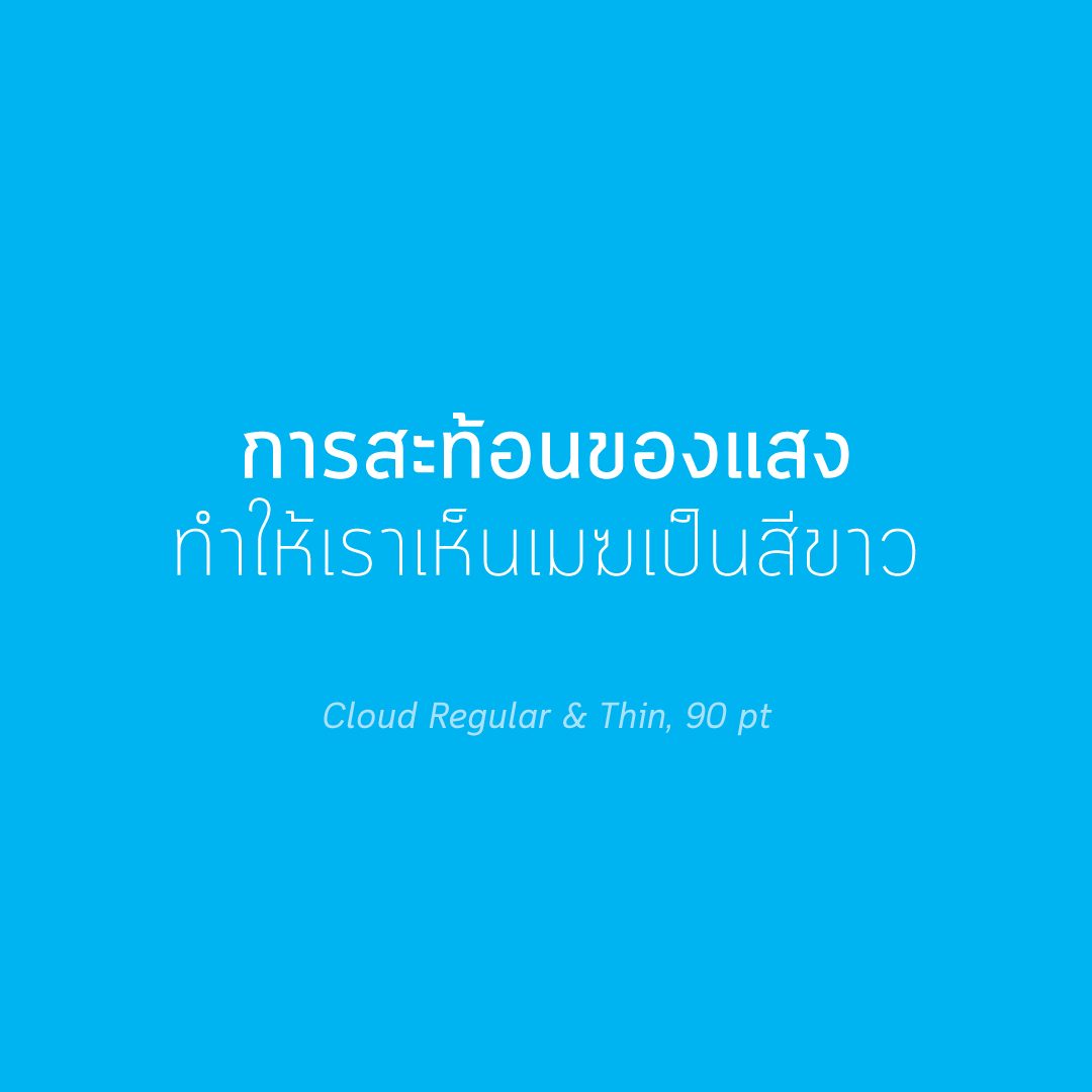 タイ文字フォント「Cloud」